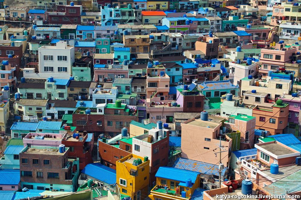 Культурная деревня Камчхон (감천문화마을)